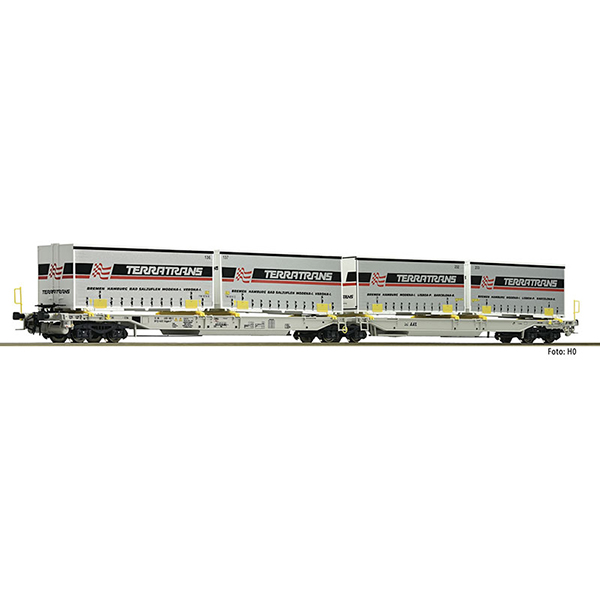 Fleischmann 825011 Articulated double pocket wagon T2000 AAE