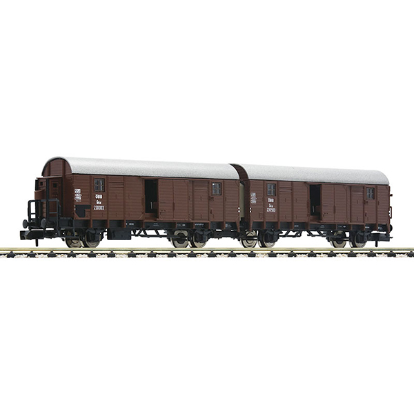 Fleischmann 830604 Wagon unit Leig that consists of two boxcars type Glleh OBB