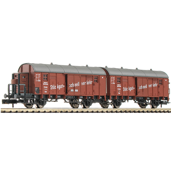 Fleischmann 830605 Wagon unit Leig that consists of two boxcars type Glleh Dresden DRG