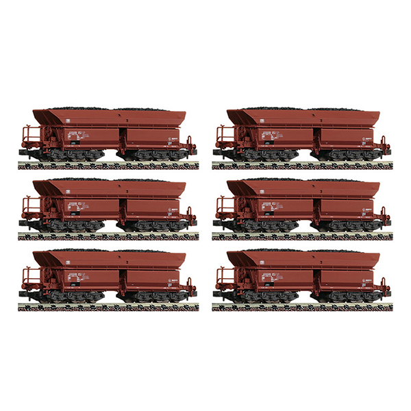Fleischmann 852702 Campaign display 12-piece set self unloading hopper wagons type Faalns 150 DB