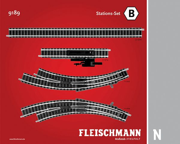 Fleischmann 9189 Track Pack Station Set B