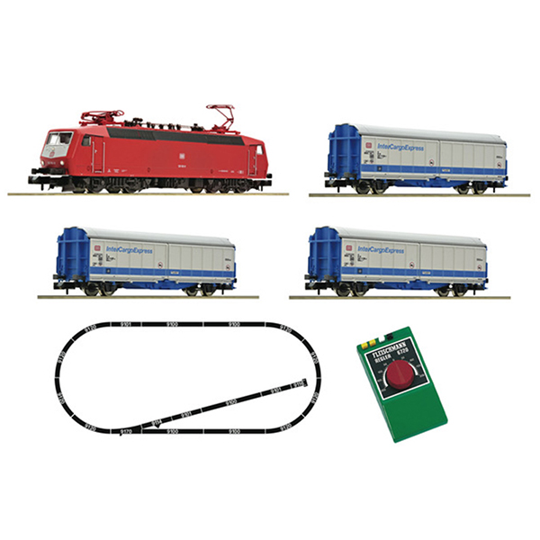 Fleischmann 931702 Analogue Starter Set InterCargoExpress with electric loco class 120 1 DB AG