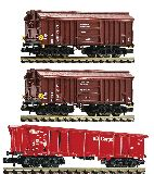 Fleischmann 829357 3 Piece Set Clay Transport Wagons DB AG Set 1