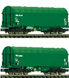 Fleischmann 837930 2 Piece Set Slide Tarpaulin Wagons on Rail
