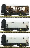 Fleischmann 837932 3 Piece Set Slide Tarpaulin Wagons Captrain
