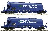 Fleischmann 849004 2 Pcs Set Dust Silo Wagon ENVILOC