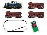 Fleischmann 931705 Analogue Starter Set Diesel Locomotive Class 212 and Goods Wagon DB AG