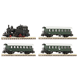 Fleischmann 707006 4 piece set Steam locomotive series 770 and passenger train OBB
