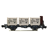 Fleischmann 823702 Container carrier wagon type Bt10 that has a brakemans cab and Eokrt containers DB