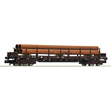 Fleischmann 826808 Stanchion wagon type Rs that carries tubes DSB