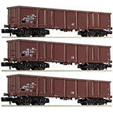 Fleischmann 828347 3-piece set goods wagons type Eas DR