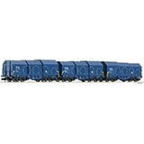 Fleischmann 838825 3 piece set telescopic hood wagons type Shimmns NS