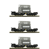 Fleischmann 845511 3-piece set heavy duty wagons type Samms DB