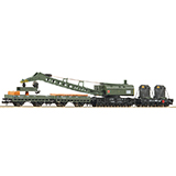 Fleischmann 859902 4 piece set crane train DB