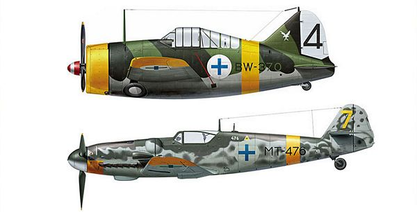 Hasegawa 02279 B239 Buffalo And ME BF109G6 Finish Airforce