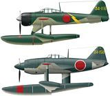 Hasegawa 02136 A6M2-N Type 2 Fighter Seaplane and N1K1
