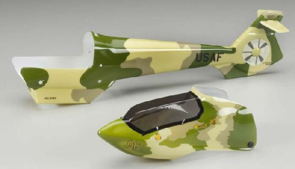 Heli-Max 7441 Fuselage Camouflage w-Decal Axe EZ