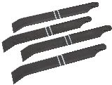 Heli-Max 2515 Main Rotor Blade Set for Black Hawk