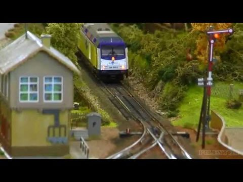 Great video with Marklin trains and incredible scenery