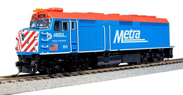 Kato 376572 EMD F40PH Chicago Metra