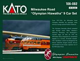 Kato 106082 Milwaukee Road Olympian Hiawatha Set