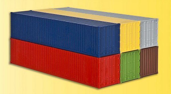 KIBRI 10922 H0 6 x 40 ft containers