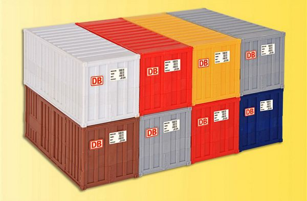 KIBRI 10924 H0 4 x DB 4 x 20 ft containers