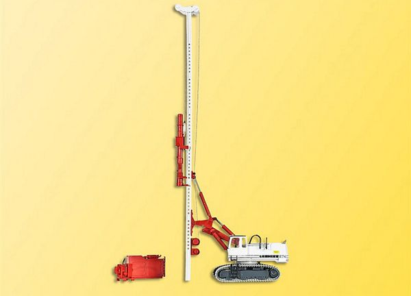 Kibri 11253 HO LIEBHERR 974 with ram and pulley attachment