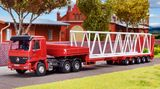 Kibri 15710 Wiesbauer Low Boy Trailer with Crane Boom Load Kit