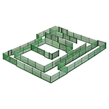 Kibri 38603 Chain Link Fence Green