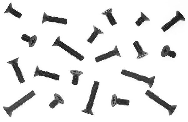 Kyosho 1121 Flat Head 4MM Metalic Screws 8 20MM
