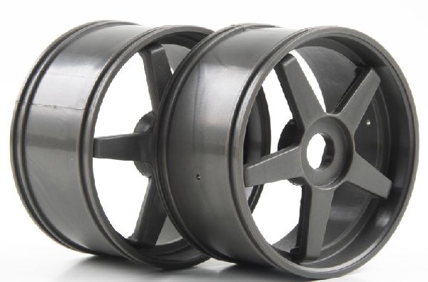 Kyosho IGH006GM 5-Spoke Wheel Gunmetal-GT-GT2-2Pcs