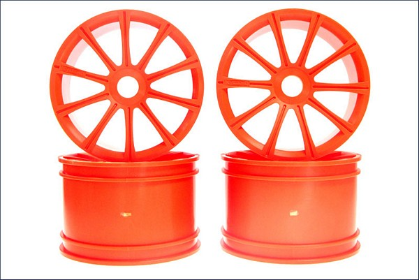 Kyosho ISH050KO Ten-Spoke Wheel Orange-ST-R-4pcs
