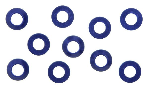 Kyosho W0141V M3x6 Tapered Washer Blue-10Pcs