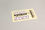 Kyosho 1107503 Decal KELLY 70