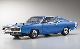 Kyosho 34052T1B 1970 Dodge Charger Blue w-KT-231P FAZER VEi RS