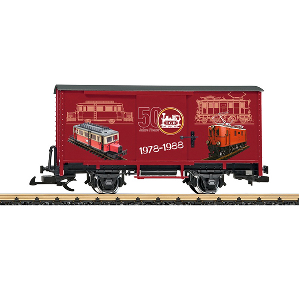 LGB 40502 Steel Boxcar 50th Anniversary