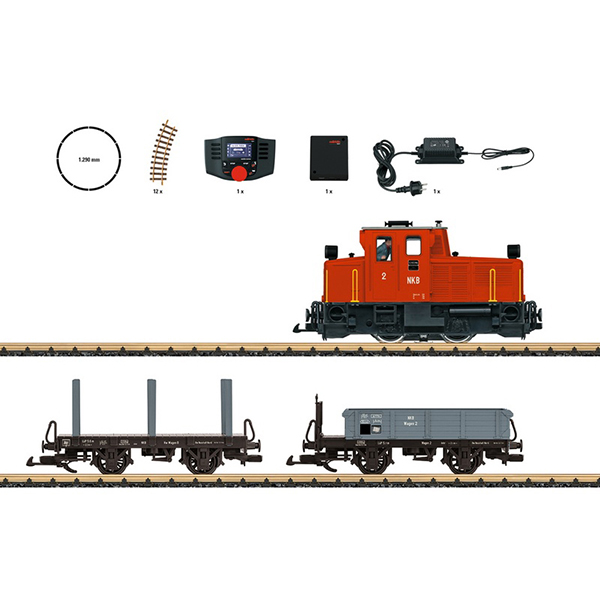 LGB 70231 Freight Train Starter Set 230 Volts with a Mobile Station