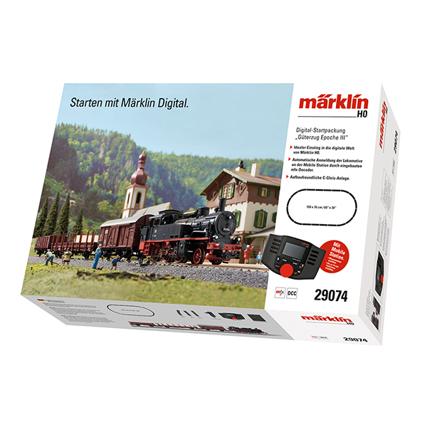 Marklin 29074 Marklin Start up Era III Freight Train Digital Starter Set
