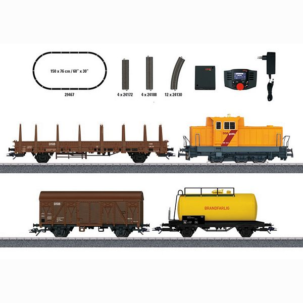 Marklin 29467 Danish Freight Train Digital Starter Set
