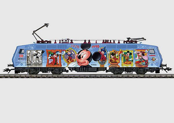 Marklin 33535 BR120 Electric Locomotive Mickey Mouse Anniversary