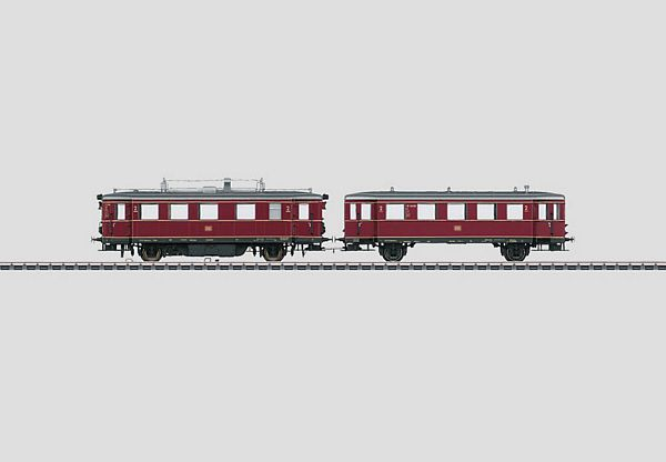 Marklin 37706 Diesel Powered Rail Car with a Trailer Car VT75
