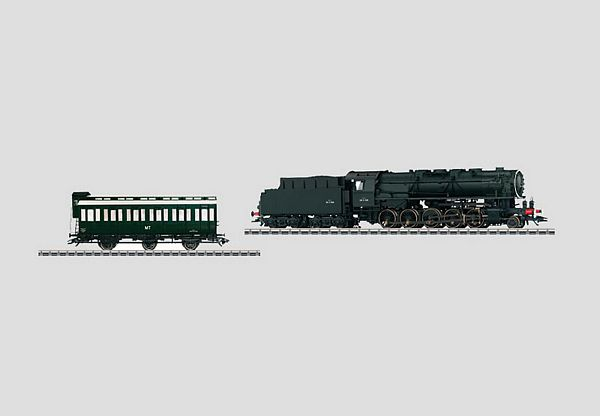 Marklin 37887 Locomotive w-Tender and Crew Car