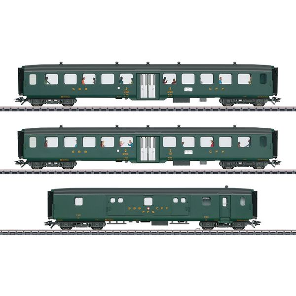Trix 23133 D96 Isar Rhone Express Train Passenger Car Set 2