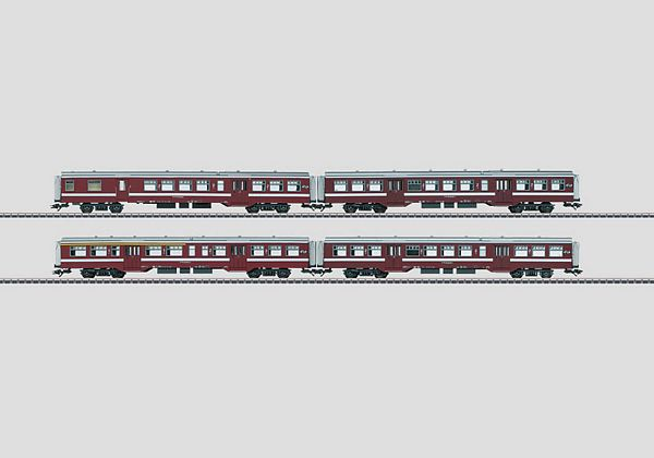 Marklin 43543 Belgian State Railways SNCB-NMBS M2 series commuter cars