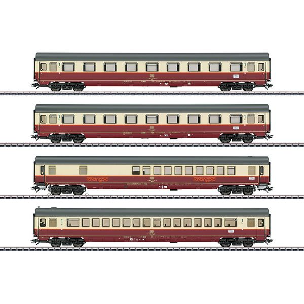 Marklin 43849 Rheingold Offshoot Train Passenger Car Set