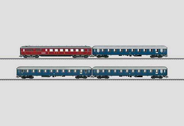 Marklin 43918 Express Train Passenger Car Set F-Zug 4 Merkur A4um WR4u