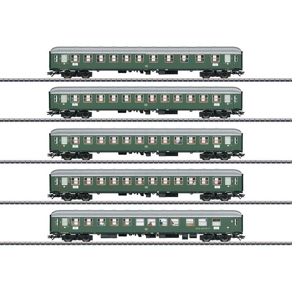 Marklin 43935 D96 Isar Rhone Express Train Passenger Car Set 1