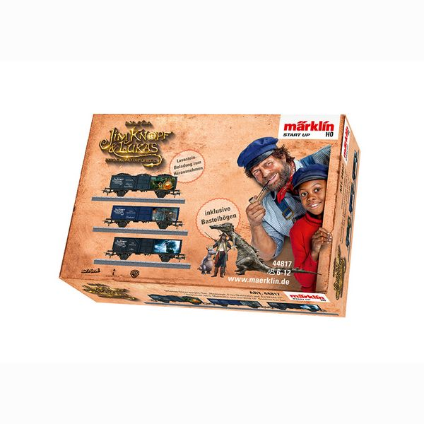 Marklin 44817 Jim Button and Lukas the Locomotive Engineer Gondola Car Set