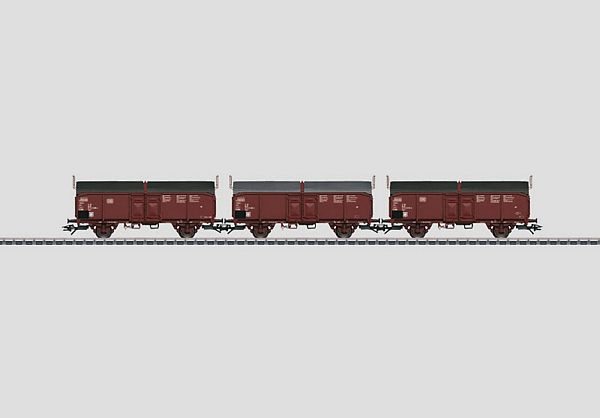 Marklin 46195 Set with 3 Type Tcms 850 Sliding Roof Cars